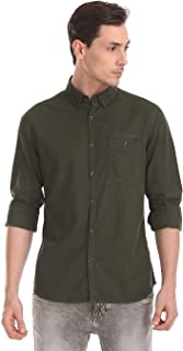 Ed Hardy Men's Solid Slim fit Casual Shirt