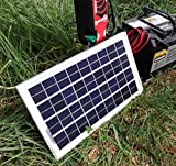 BURNTEC 12V Weatherproof Solar Panel Battery Charger for Electric Fence Horse Livestock Energizer