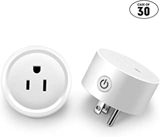 Case of 30 packs,2/pack,WAZA Smart Plug Wi-Fi Mini Socket Outlet Compatible with Alexa Wireless Control Your Devices. Timing Function for Smart Phone Voice Control for Home Appliances White