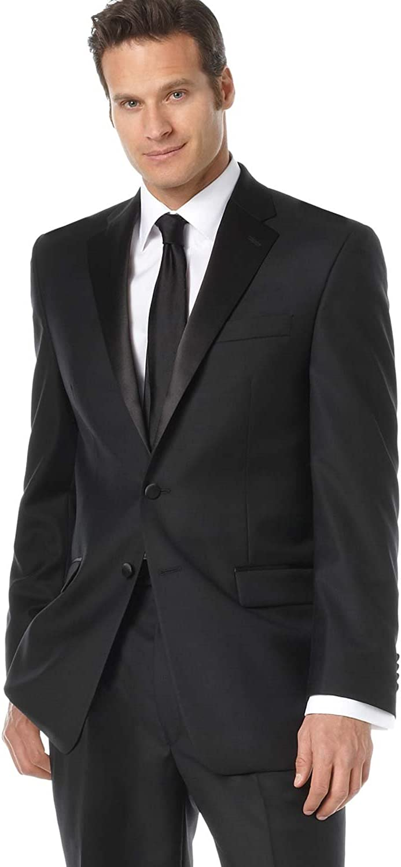 Lauren by Ralph Lauren Mens S Two Button Wool Suit Set Black 40