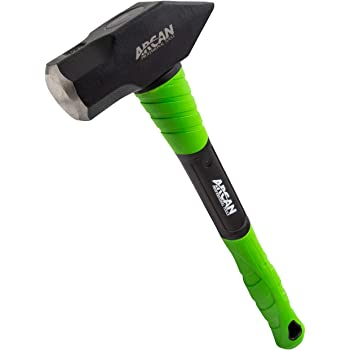 Arcan 4 LB Cross Peen Hammer with 16-Inch 3G Fiberglass Handle with Rubber Grips and Drop Forged Heads (AH4CP)