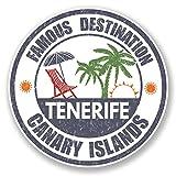 2 x 10 cm vinilo Tenerife viaje equipaje etiqueta España Islas Canarias # 6730