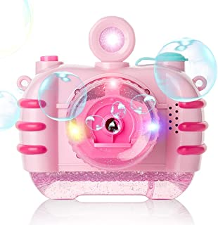 CONDFUL Bubble Machine for Kids | Automatic with Music | Giant Bubble Maker |Indoor and Outdoor Bubble Toy| Battery Operated Pink Color Camera |Bubble Blower