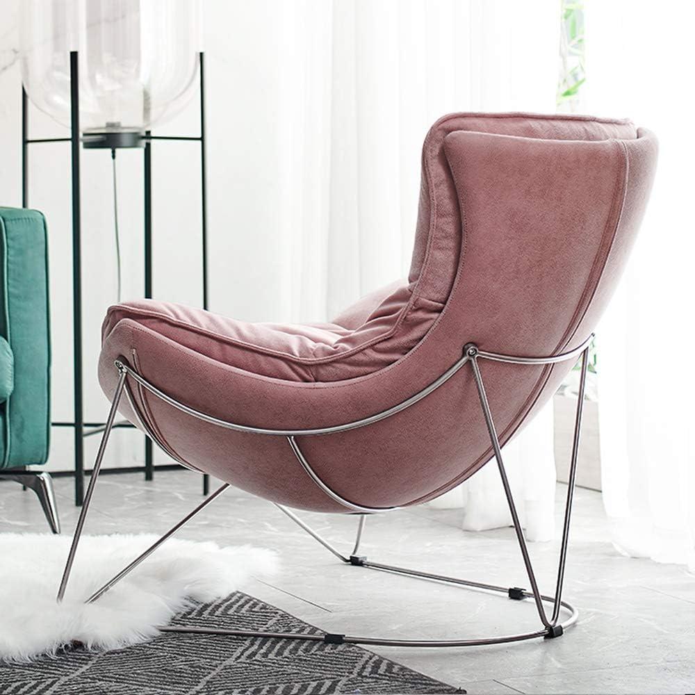 ZSAIMD Velvet Chaise d'appoint Canapé rembourré Comfy plissés Retour Fauteuil Fauteuil Canapé d'or for placage Salon Chambre Chambre d'hébergement (Color : Orange) Rose