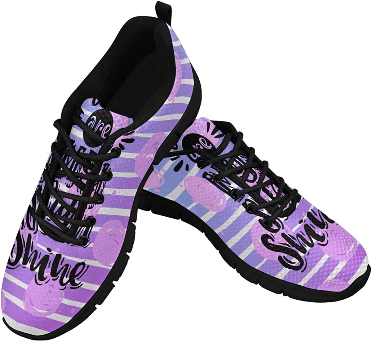 INTERESTPRINT You are My Sunshine Women's Athletic Walking Running Sneakers Comfortable Lightweight Shoes