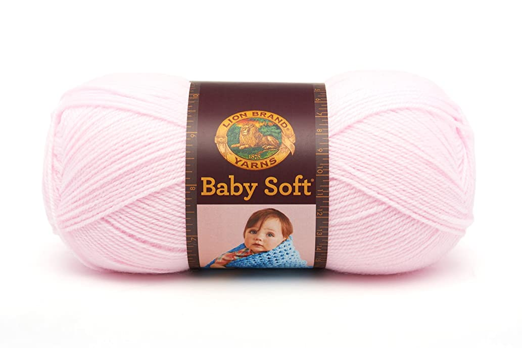 Lion Brand Yarn 920-101A Babysoft Yarn, Pastel Pink