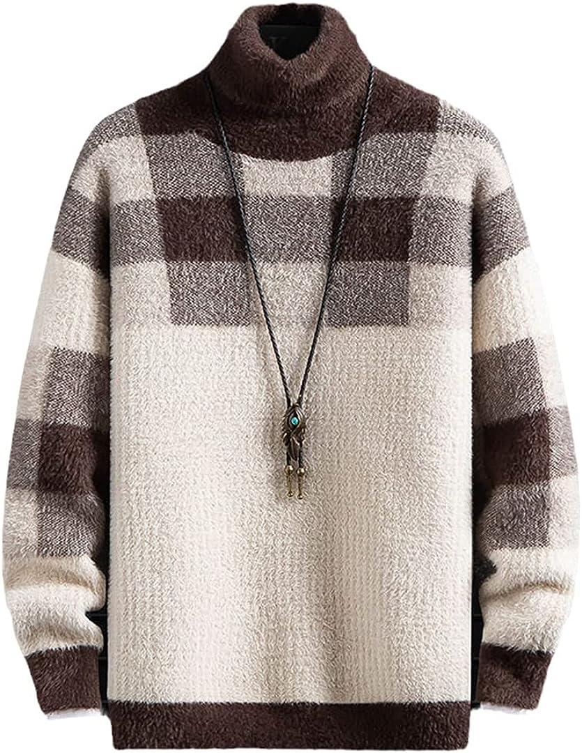 Cashmere Sweater Over item handling Men Fashion Plaid Men's Christmas Jumper Superlatite Turtle