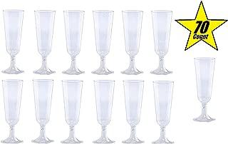 plastic champagne flutes glitter
