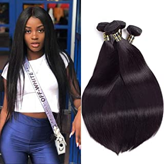 Uneed Hair 8A Brazilian Straight Hair Bundles(20 22 24 26,400gram)4 Bundles Brazilian Hair Brazilian Hair Weave Bundles Virgin Hair Weave Human Hair Extension Natural Color
