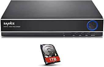 SANNCE 4 Channel 5-in-1 HDMI 720P Surveillance DVR Recorder with 1TB Hard Drive and Motion Detect,Phone Access, Compatible with AHD/TVI/CVI/IP/960H Cameras