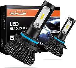 Marsauto 9005 LED Headlights, HB3 LED Headlight High Beam Fog Light Bulbs 6000K 8000LMs Cool White Halogen Replacement 2 Pack