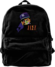 Jay-Z Casual Fashion Canvas Backpack School Bag is Large and Durable.