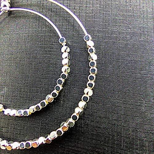 Aretes de cristal de doble anillo, aretes de cuentas de múltiples capas, pequeñas joyas frescas, aretes de moda B