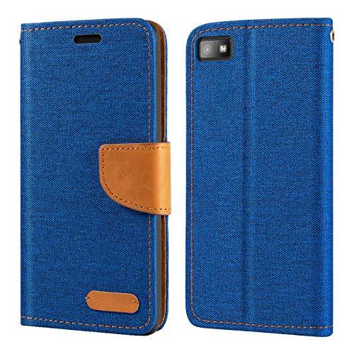 Schutzhülle für BlackBerry Z10, Oxford-Leder, Brieftaschenformat, mit weicher TPU-Rückseite, Magnetverschluss, für BlackBerry Z10