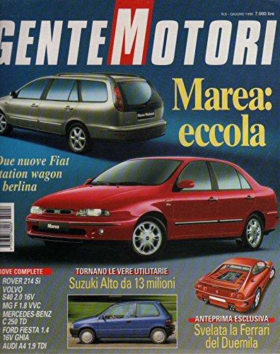 Gente Motori 6 Giugno 1996 Audi A4 1.9 TDI-Volvo S40 2.0 16V-Rover 214 Si