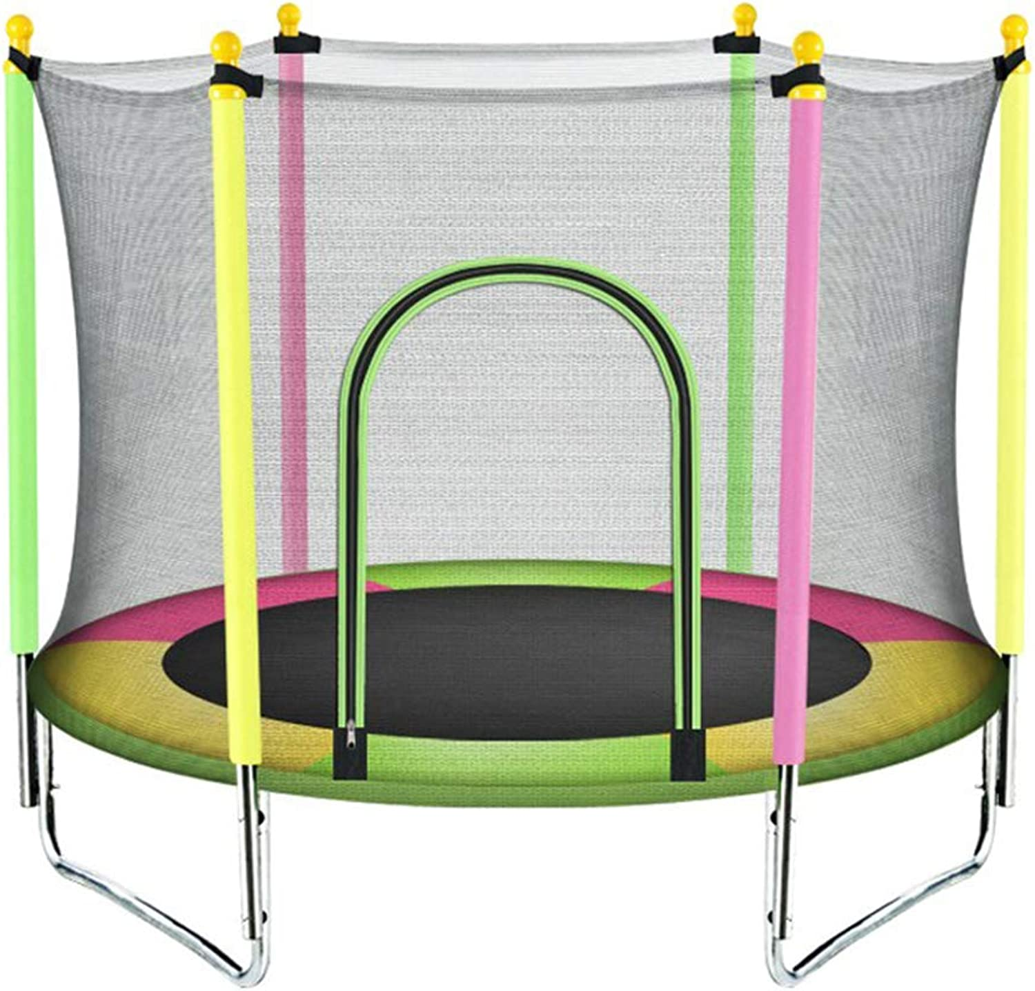 Trampoline Jumping Sheet Kids Bouncing Bed with Predective Net Indoor Entertainment Lean Aerobic Exercise Gym Fitness Equipment Sports Weight Loss Device