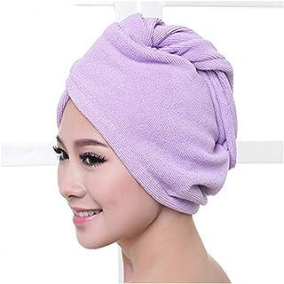 Droog haar cap 1 stks Microfiber Bad Handdoek Haar Drogen Wrap Womens Meisjes Lady's Handdoek Sneldrogende Haar Hoed Cap T...