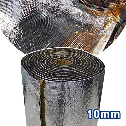 Motify-GT Lingda 10.76 SqFT® - Alfombrilla de aislamiento térmico de 10 mm para control de ruido de coche, amortiguación acústica, resistente a la humedad, resistente al agua (101,6 x 101,6 cm)