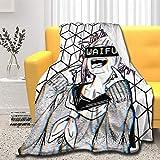 Himiko Toga Manta ultra suave y cómoda manta de cama para sofá de viaje (Himiko Toga 02, mediano (60 x 50 pulgadas)