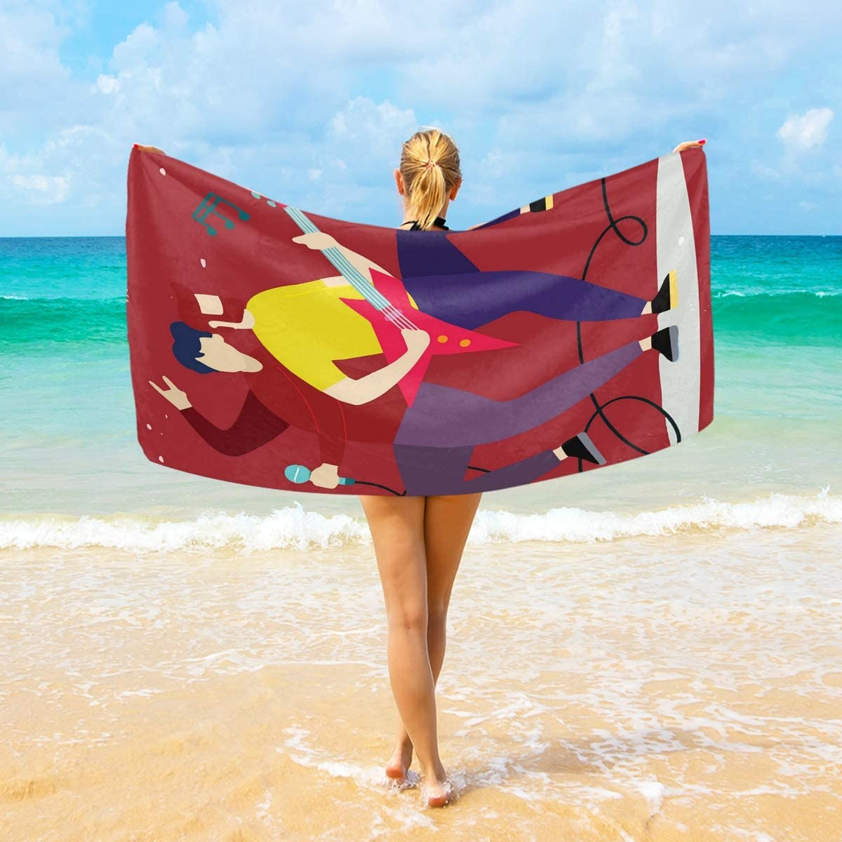 Al sold out. DoubleCW Rock and Roll Microfiber Picnic Blanket Outdoor B sold out Beach