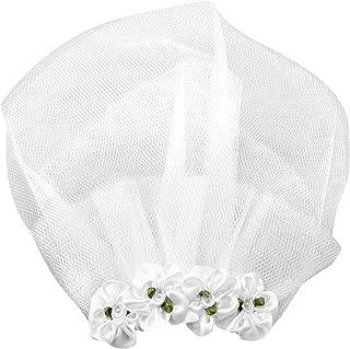 Pasamer Pet Wedding Bride Veil Dog Flower Headdress Veil Clip Pet Dog Accessory White(L)
