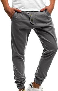 FRAUIT Pantaloni Tuta Uomo Cotone Slim Invernali Pantalone Uomini Estivo Lungo Pantaloni Ragazzo Estivi Leggeri Pantaloni Elegante Elasticizzati Pantaloni Tuta Stretti Pantaloni Cargo Leggero