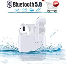 Wireless Earbuds in-Ear Wireless Bluetooth 5.0 Headphones 24 Hour Playtime 3D Stereo IPX5 Waterproof Sports Headset,for Android ISO Samsung iPhone Apple of Airpod and Airpods
