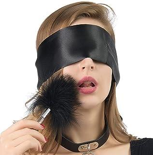 Enlove Spielsatin Augenmaske Augenbinde Federn Liebes Feder Erotik SM Sexspielzeug für Paare Frauen BDSM Bondage Handschel...