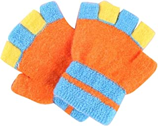 Five-Finger Gloves(4-8 Years Old), Winter Warm Mittens for Boys and Girls, D04