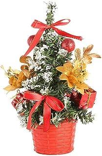 aipipl Arbre de Noël DIY Ornements Mini Arbre de Noël 20cm Noël Décorations de Table Artificielles Festival Arbre Miniatur...