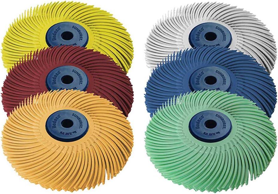 "Dedeco Tucson Mall Sunburst - 3"" TC 3-PLY 4âBristle Discs High order 1 Radial"