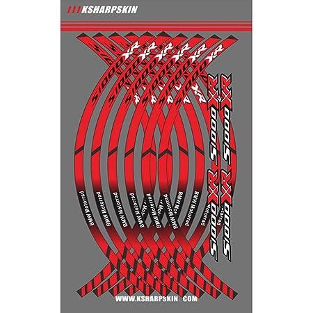 Psler Motorrad Felgenrandaufkleber Rim Stripes Aufkleber Für S1000xr Rot Auto