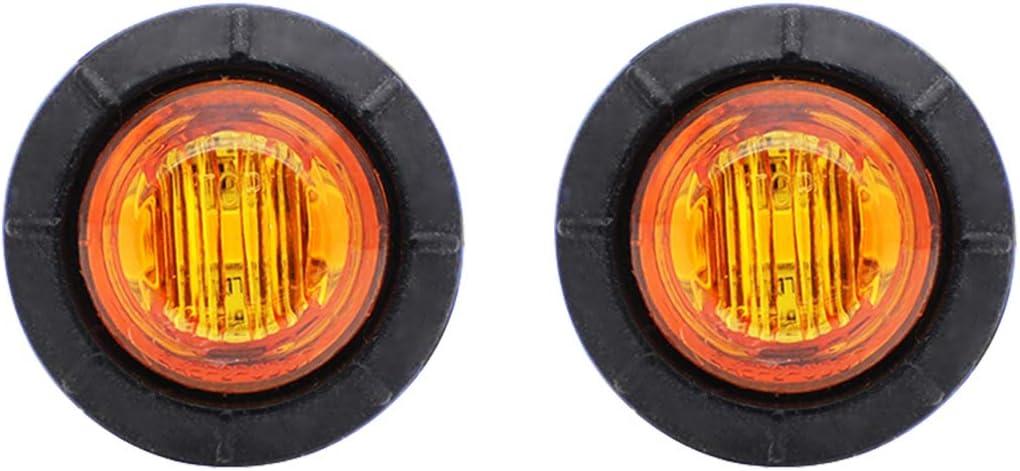 Meerkatt Dedication Pack of 2 3 4 Inch LED Mini Amber Clearance Lam High material Round