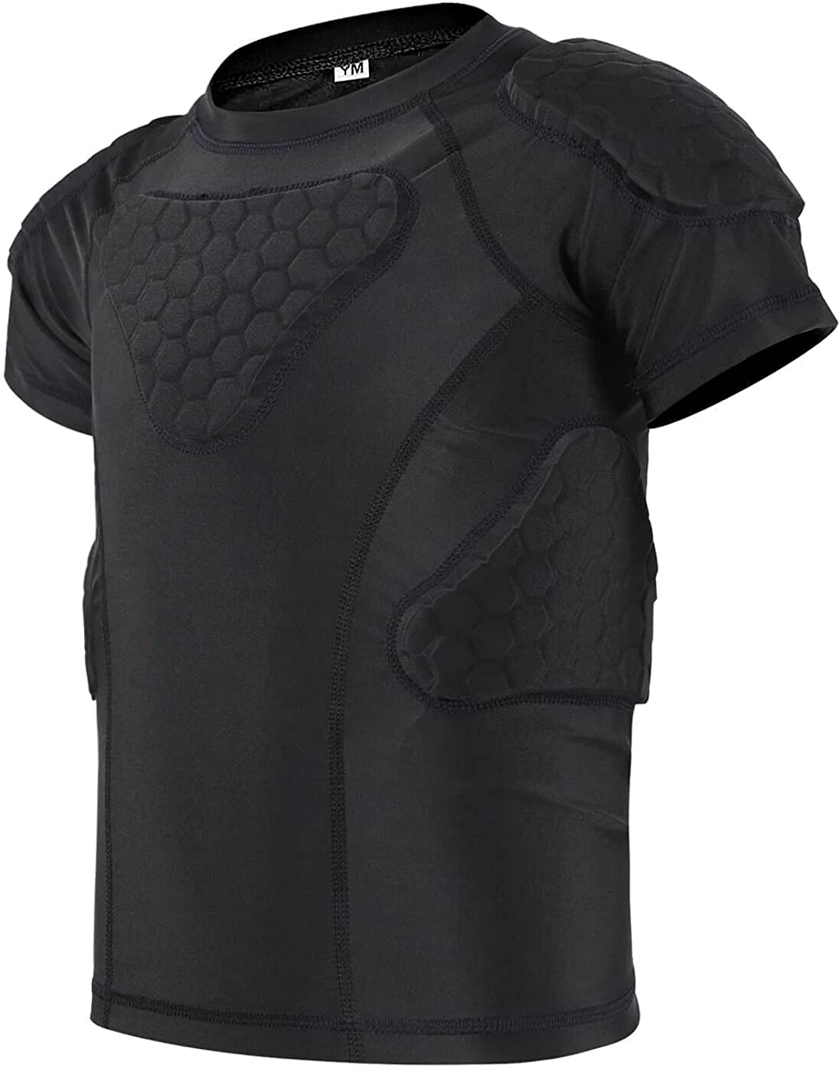 TUOY Youth Padded Compression Japan's largest assortment Chest Shirt Rib Prote Albuquerque Mall
