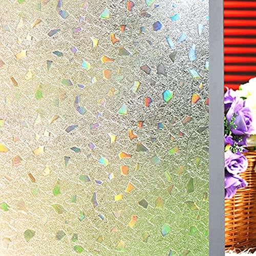 Shackcom Lámina adhesiva 3D para ventanas, autoadhesiva, opaca, 60 x 300 cm, adherencia estática, anti-UV, lámina decorativa para baño, cocina, oficina, casa, efecto de color bajo la luz, S170