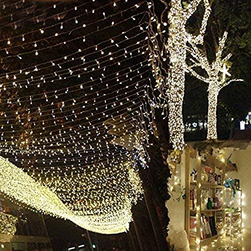 300 LED Waterproof String Lights, 8 Modes Dimable Fairy Lights, Water Resistant Plug in Decorative Lights for Outdoor and Indoor 33m