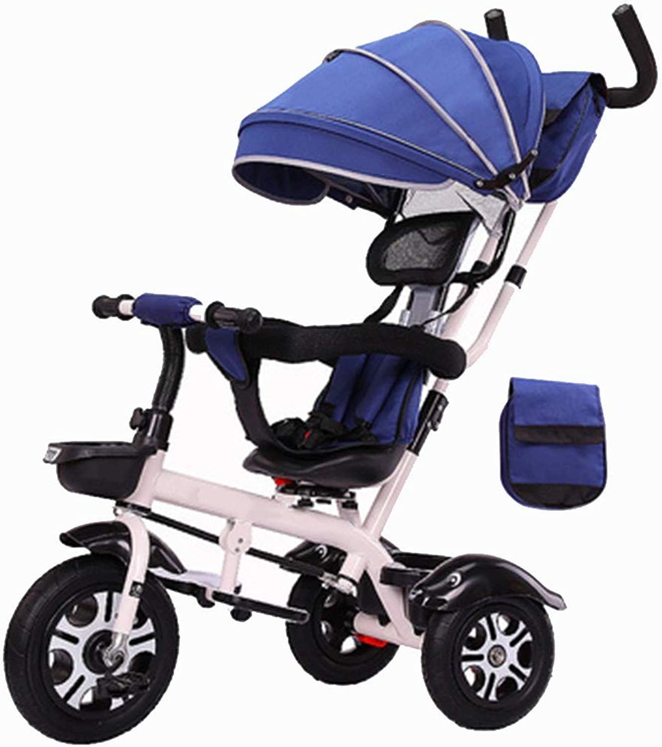 YUMEIGE Trikes Kids Tricycle Kids Pedal Bicycle with Sunshade roof 2-5 Years OldLoad Weight 50kg Baby Carriage Boys Girls Toy Car (color   bluee)
