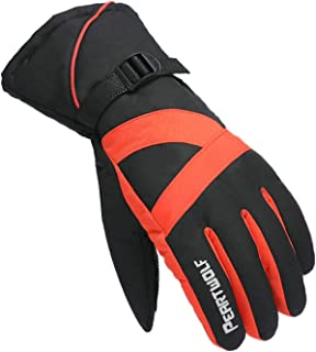 Aooaz Gloves gloves Gloves Mobile Phone Touch Screen Gloves Warm Gloves Sport Gloves Gloves Red
