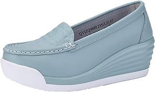 Generic11 Chaussures compensées pour Femmes Plate-Forme antidérapante infirmière Chaussures Blanches concises sans Lacet C...