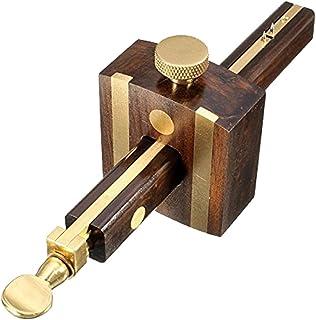 Jauge de marquage de bois, Trusquin à mortaise Profondeur Bois Scribe Avec Outil de Mesure de Vis en Laiton