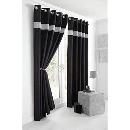 Grey And Black Curtains Amazoncouk