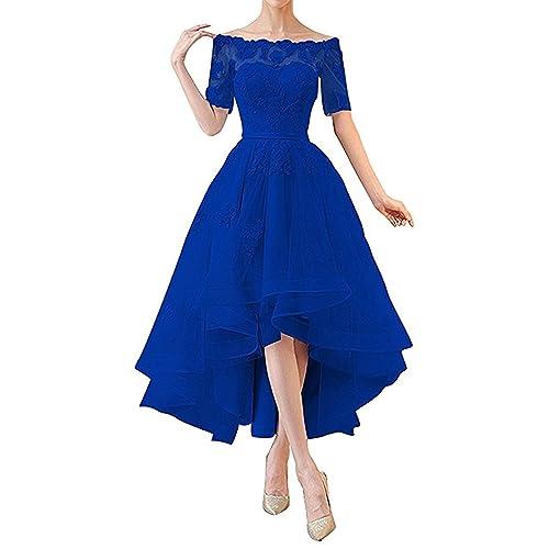 Half Sleeve Royal Blue Dress: Amazon.com
