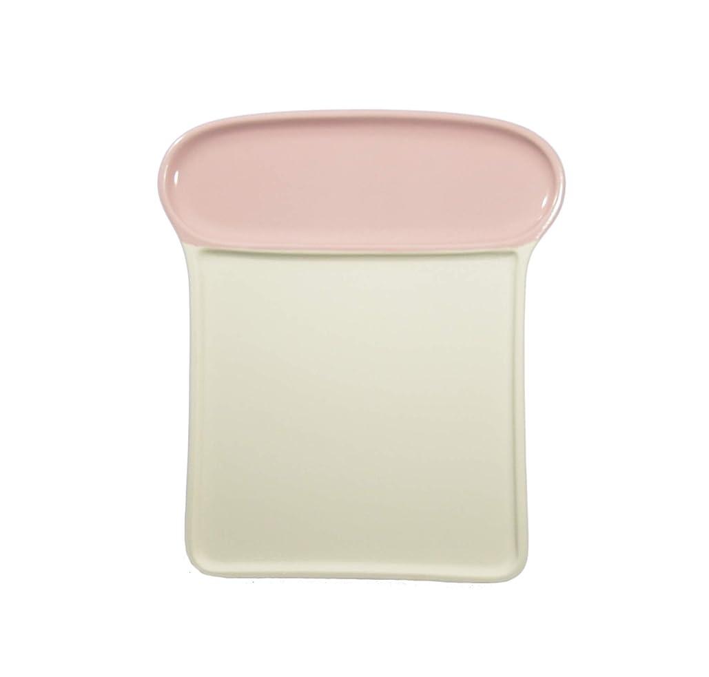 タイマー責任者動機東洋セラミックス 中皿 ピンク 20.3×17.9㎝ カラッとパン皿