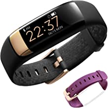 Siroflo Fitness Tracker HR, Health Tracker Watch with Heart Rate, Female Physiological Period Sleep Monitor BP Call/SMS Remind Waterproof Pedometer Smart Watch for Kids, Men, Women and Old (Purple)