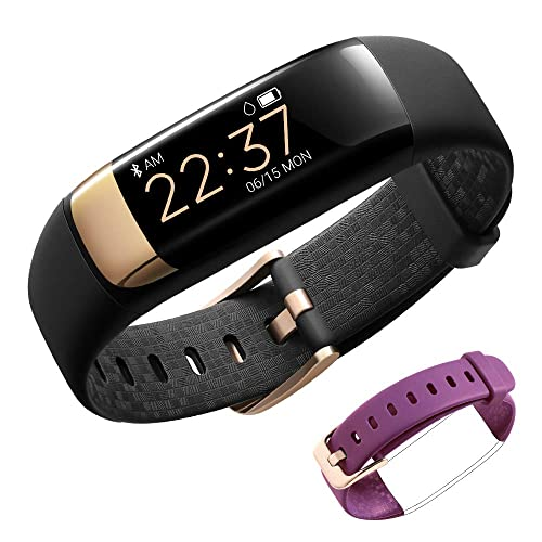 siroflo Fitness Tracker, Montre Connectée Tracker d'Activité IP67 étanche, Smartwatch Bracelet Bluetooth Podomètre avec Moniteur de Sommeil/Step Tracker/Compteur de Calories pour Android,iPhone-Black