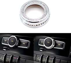 Thor-Ind Bling Crystal Audio Volume Sound Knob Button Cover for Mercedes-Benz A B C CLA CLS CLK GLA GLC GLE GL SL Class