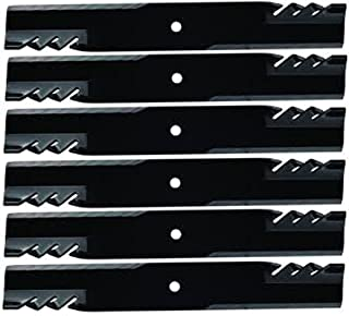 Replaces Gravely 6PK Oregon 596-319 Gator G5 Hi-Lift Blades for 60
