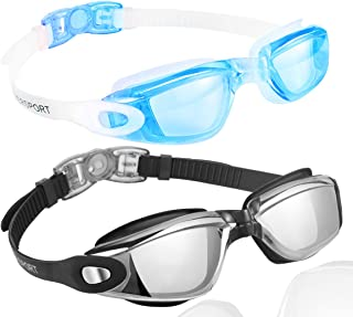 EverSport Swim Goggles, Pack of 2 Swimming Goggles, Swim...