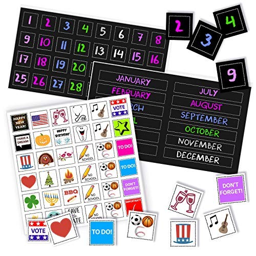 magnetic calendar numbers - 1