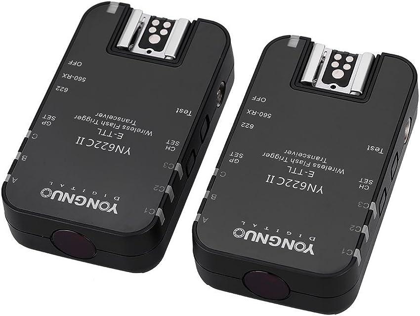 YONGNUO YN622C II 2.4G E-TTL Disparador Receptor Transmisor Transceptor de Flash para Canon EOS 5D Mark II 7D 70D 60D 50D 40D 450D + Andoer® Paño de Limpieza